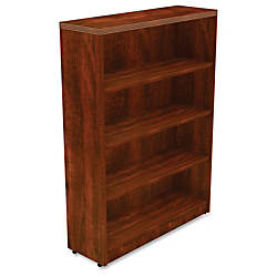 Lorell Chateau Series Bookcase 4 Shelf