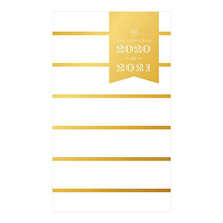 "Day Designer® Weekly/Monthly Planner, 3-5/8"" x 6-1/8"", White Skinny Stripe, January to December 2020, 116894"