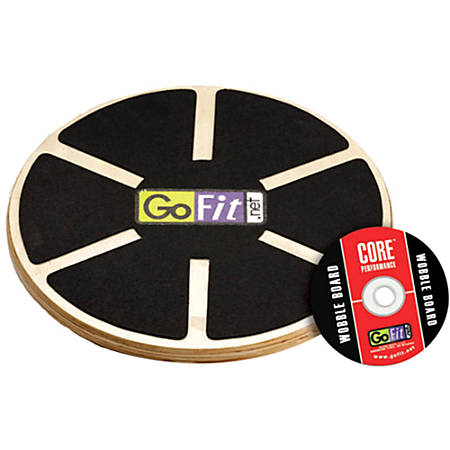 GoFit Ultimate 15 Inch Adjustable Round Wood Balance Board