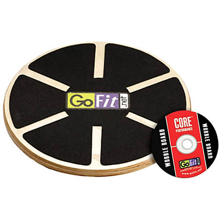 GoFit Ultimate 15 Inch Adjustable Round Wood Balance Board