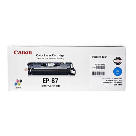 Canon EP-87C Cyan Toner Cartridge (7432A005BA)