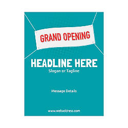 Custom Flyer Vertical Grand Opening Banner