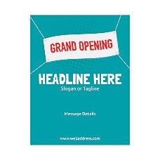 Custom Flyer Vertical Grand Opening Banner