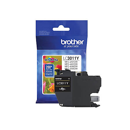 Brother LC3011Y Ink Cartridge - Yellow - Inkjet - Standard Yield - 200 Pages - 1 Each