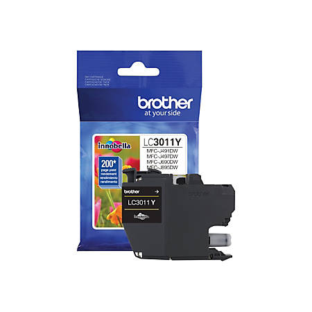 Brother LC3011Y - Yellow - original - ink cartridge - for Brother MFC-J491DW, MFC-J497DW, MFC-J690DW, MFC-J895DW