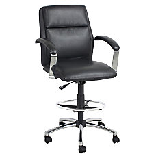 Global Office Furniture Drafting Stool BlackChrome
