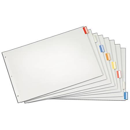 "Cardinal® Tabloid Paper Index Dividers, 11"" x 17"", 8-Tab, Multi"