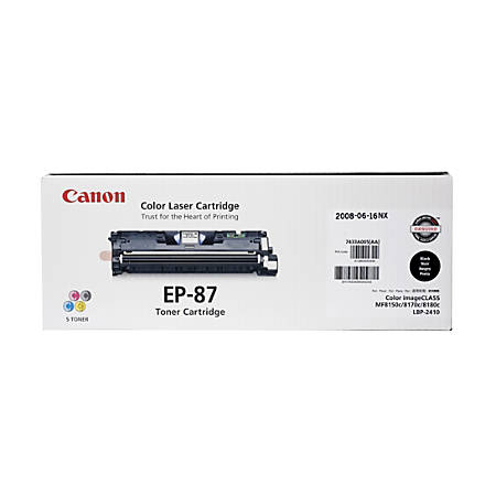 Canon EP-87BK Black Toner Cartridge (7433A005BA)