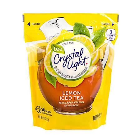 Crystal Light Drink Mix Pitcher Packs, Iced Tea, Pack Of 16