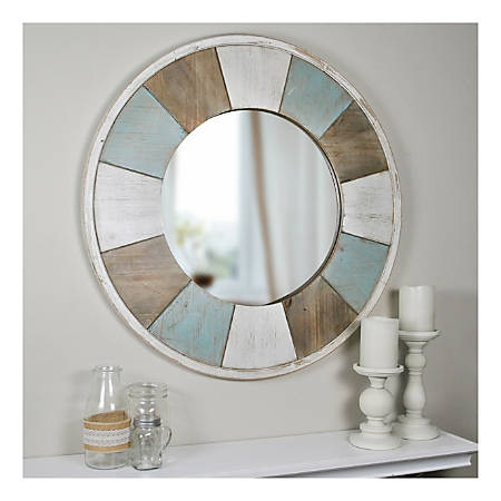 """FirsTime & Co.® Cottage Timbers Circular Mirror, 27"""", Multicolor"""