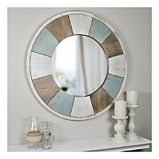 FirsTime Co Cottage Timbers Circular Mirror