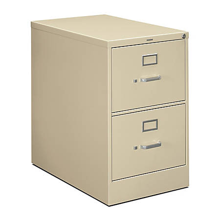 """HON® 210-Series Vertical Filing Cabinet, Legal Size, 2 Drawers, 29""""H x 18 1/4""""W x 28 1/2""""D, Putty"""