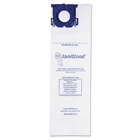 Janitized® Windsor Sensor Vacuum Filter Bags, White, Pack Of 100 Bags