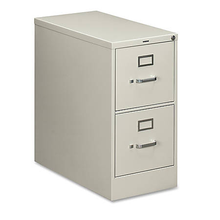 "HON® 210-Series Vertical Filing Cabinet, Letter Size, 2 Drawers, 29""H x 15""W x 28 1/2""D, Light Gray"