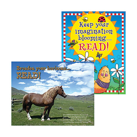 "Barker Creek® Chart Set, Celebrate Reading, 17"" x 22"", Grades Pre-K+, Pack Of 2"