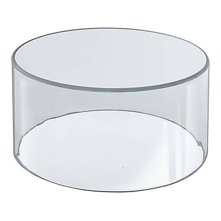 """Azar Displays Deluxe Display Cylinder, 6""""H x 10""""W x 10""""D, Clear"""