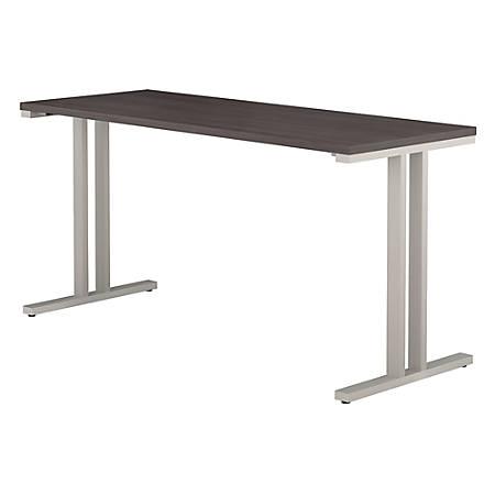 "Bush Business Furniture 400 Series Training Table, 60""W x 24""D, Storm Gray, Premium Installation"