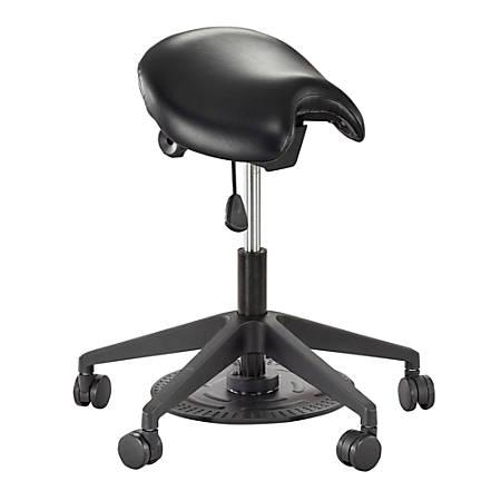 Safco® Saddle Seat Lab Stool, Black