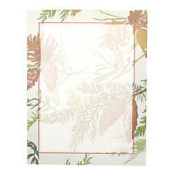 Gartner Studios Holiday Stationery Sheets Pinecone