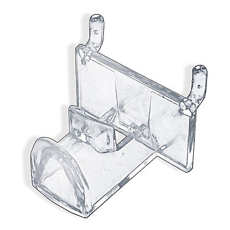 """Azar Displays Plastic Eyeglass Holders For Pegboards, 2-1/4""""H x 2-1/4""""W x 1-3/4""""D, Clear, Pack Of 25 Eyeglass Holders"""