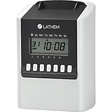 Lathem Calculating Electronic Time Clock 100