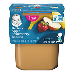 Gerber 2nd Foods Apple Strawberry Banana, 4 Oz, Case Of 16