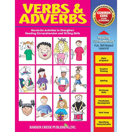 Barker Creek Grammar Activity Book, Verbs And Adverbs, Grades 1 To College
