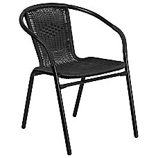 Flash Furniture Rattan Stack Chair Black