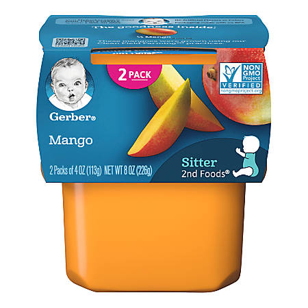 Gerber 2nd Foods Mango, 4 oz, Case Of 16