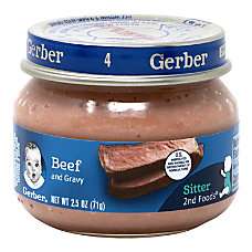 Gerber 2nd Foods Strained Beef And