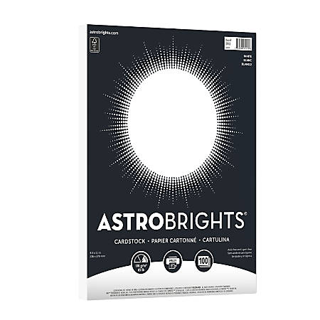 Astrobrights® Bright Cover Paper, Letter Paper Size, 65 Lb, FSC® Certified, Limited Edition White Cardstock, Ream Of 100 Sheets