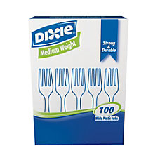 Dixie Plastic Utensils Medium Weight Forks