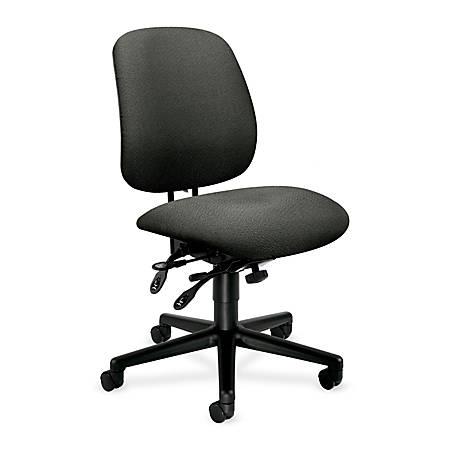 "HON® 7700-Series High-Performance Task Chair, 43 1/4""H x 26""W x 29 1/2""D, Black Frame, Gray Fabric"