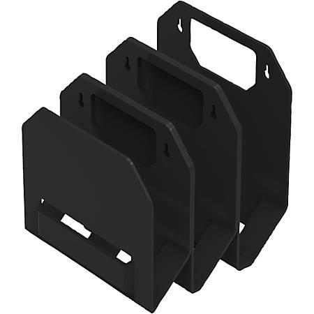 "Bostitch Konnect 3 File Organizer - 9.3"" Height x 7.5"" Width3.8"" Length - Wall Mountable - Black - 1Each"