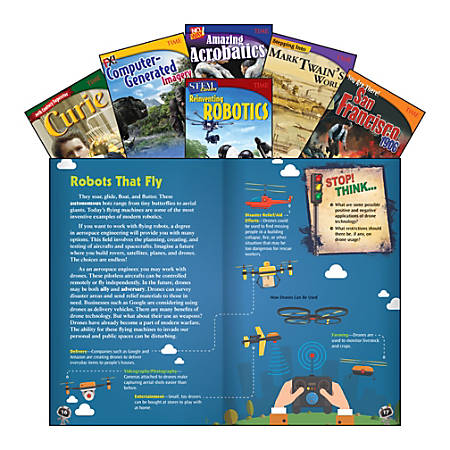 Teacher Created Materials TIME Informational Texts, Set 3, Grade 7, Set Of 6