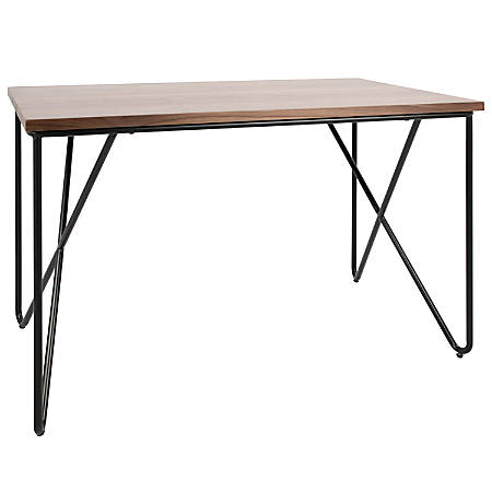 Lumisource Loft Mid Century Modern Office Desk Walnut Black Item 7810106