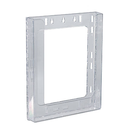 """Azar Displays Single Letter Wall-Mount Modular Acrylic Brochure Holders, 11-1/4""""H x 9-1/8""""W x 1-1/2""""D, Clear, Pack Of 10 Holders"""