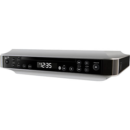 iLive IKBC384S CD-RW/CD-DA Bluetooth Under-Cabinet Music System, 1 Disc, Silver