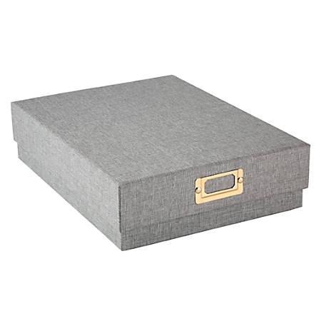 "Office Depot® Brand Fabric Storage Box, 13-5/8"" x 10-1/4"" x 3-1/2"", Gray"