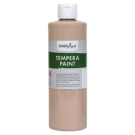 Handy Art 16 oz. Premium Tempera Paint - 16 fl oz - 1 Each - Peach