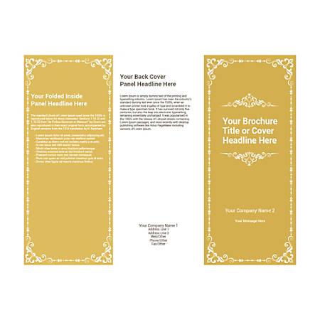 Customizable Trifold Brochure, Chrome Frame
