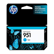 HP 951 Cyan Ink Cartridge CN050AN