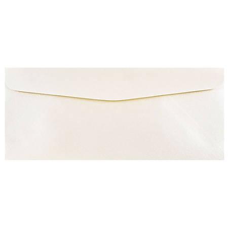 "JAM Paper® Business Booklet Envelopes, #10, 4 1/8"" x 9 1/2"", Opal, Pack Of 25"