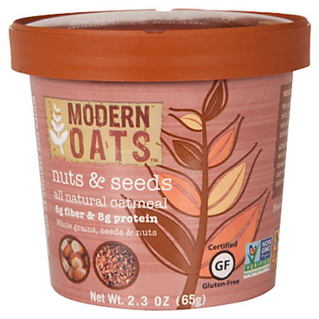 Modern Oats™ Oatmeal Cups, Nuts & Seed, 2.6 Oz, Pack Of 12