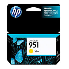 HP 951 Yellow Ink Cartridge CN052AN