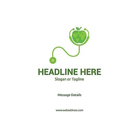 Adhesive Sign, World Health, Horizontal