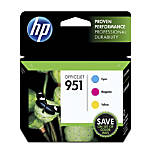 HP 951 CyanMagentaYellow Original Ink Cartridges