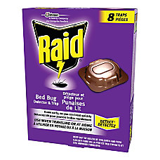 Raid Bedbug Detectors And Traps Box