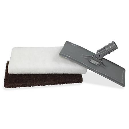 Genuine Joe Cleaning Pad Holder - 2 / Set - Gray