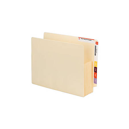 """Smead® End-Tab Convertible File Pockets, 5 1/4"""" Expansion, Letter Size, Manila, Pack Of 10"""
